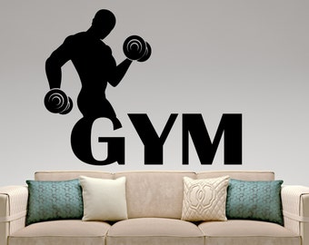 Gym Wall Decal Fitness Vinyl Stickers Sport Club Decor Fitness Center  Decoration Home Interior Design Removable Part 72