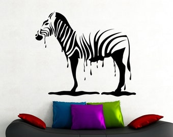 Zebra Wall Decal African Animal Sticker Horse Decorations Home Living Room Bedroom Decor Vinyl Wall Art Removable Sticker 1eldpa