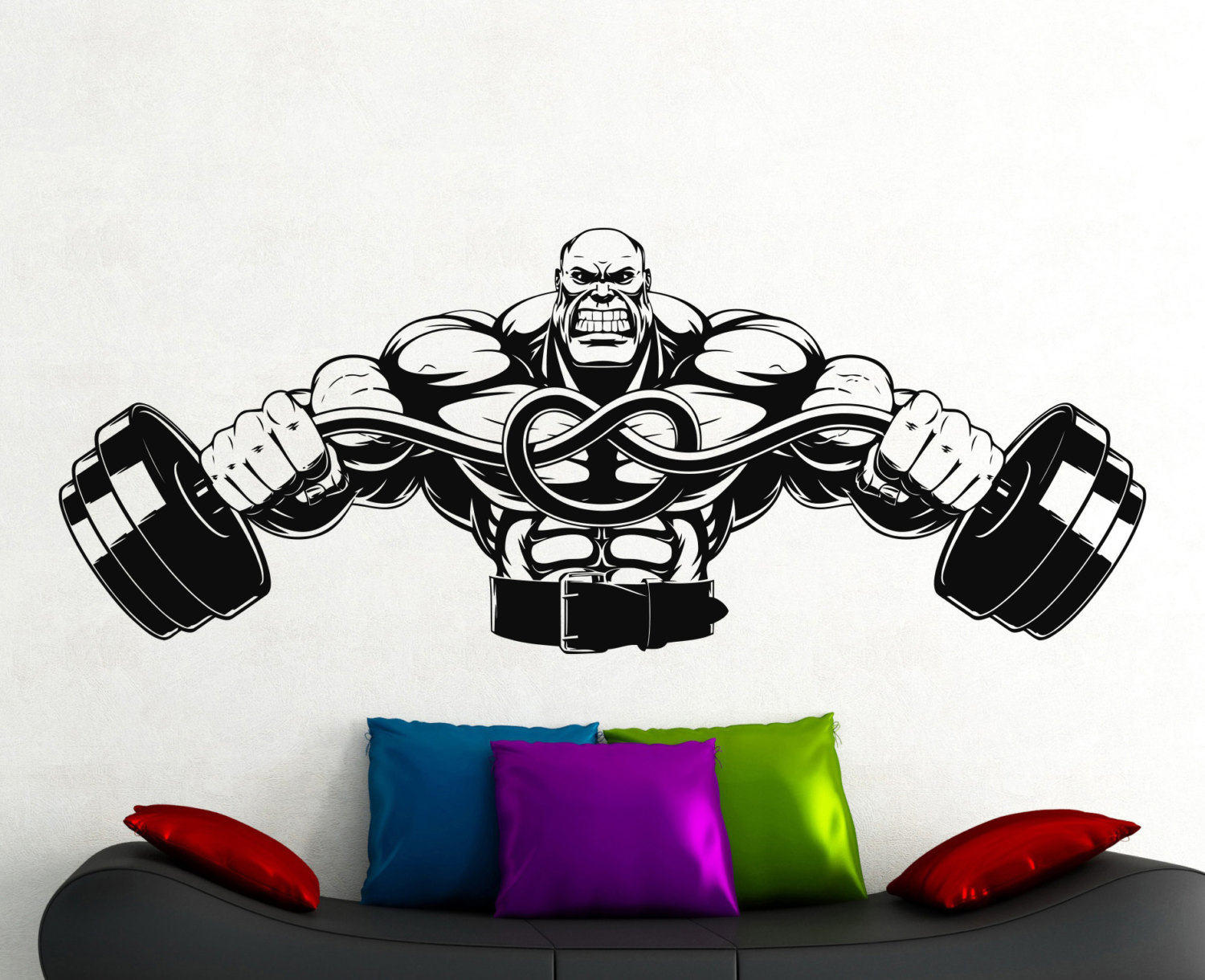 Sticker gym wall - Gym Wall Decal Fitness Stickers Sports Room Wall Decor Home Interior Wall Graphics Decor Removable Sticker