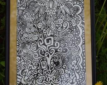 Tree of life Original 9x12 Drawing