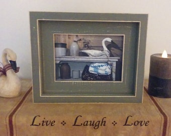 5x7 Rustic Stacked Picture Frame, Distressed Picture Frame