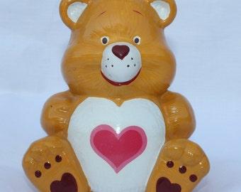 Vintage Care Bears Coin Bank Tenderheart Ceramic American Greetings 80's