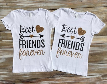Best Friends Forever Glitter Shirts