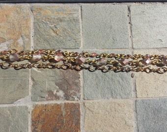 Gold & Mauve Bracelet