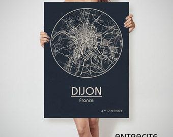 DIJON France map Dijon art, Dijon print, Dijon, Dijon map, Dijon France, Dijon wall art, Dijon city map, Dijon poster