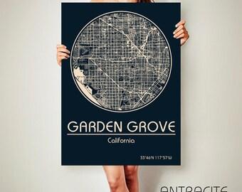 GARDEN GROVE California Map Garden Grove Poster City Map Garden Grove California Art Print Garden Grove California poster Garden Grove