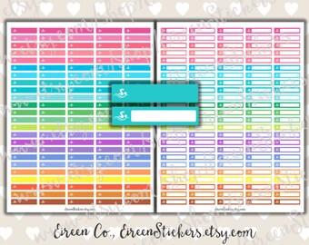 Swimming Checkbox Labels, Swim, Pool, Fitness, Sport, Summer, Erin Condren Printable Stickers, Happy Planner, PDF, Instant Download