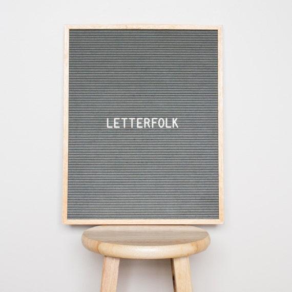 16x20 letter board w 290 characters grey felt With grey letter board