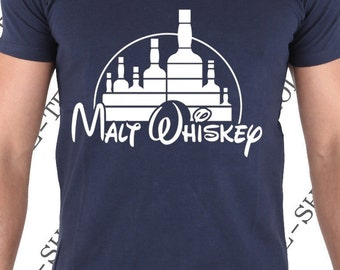 "T-shirt ""Malt Wiskey"" T-shirt funny gift idea for great whiskey and bourbon lovers."