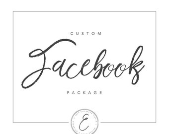 Custom Facebook Package | Facebook Cover Photo + Profile Photo | Custom Facebook Banner