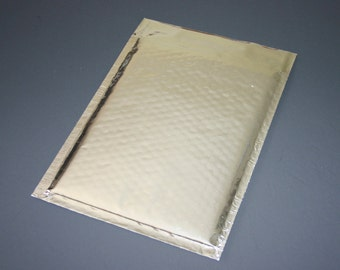 50 6x9 Silver Metallic Bubble Mailers Size 0 Self Sealing Shipping Envelopes