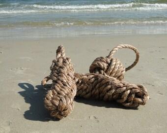 Large rope fender | Knotted rope decor | Rustic beach decor | Nautical decor | Coastal decor | Twisted manila rope fender | Beach house
