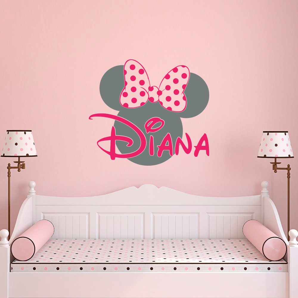 Girl name wall decal minnie mouse wall decals wall decals zoom amipublicfo Choice Image