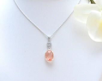 Necklace of coral bride - Mareva - Coral bridal necklace - Wedding - jewelry coral for Bridesmaids - Bridal Necklace - necklace wedding