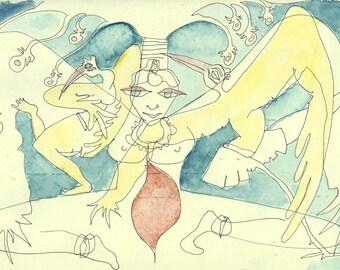 Pale goddess Print A5