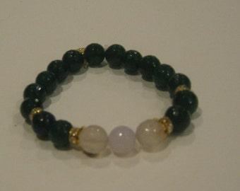 Handmade Green Beaded Bracelet (SKU#15)