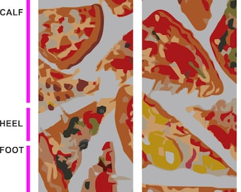 Pizza Slice Socks- Pizza Socks - Food Socks