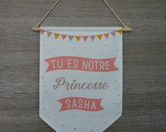 Customizable, template banner pink