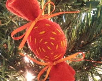 Christmas ornament Candy (orange)