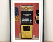 Retro Arcade Poster Print - Fan art inspired by Ready Player One Print - Arcade reference print - Easter egg/Key/featured games/retro