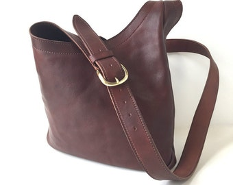 Vegetable Tanned Bridle Leather Slouch Hobo Cross Body Bag