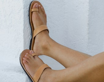 Barefoot leather sandals in three colors genuine leather