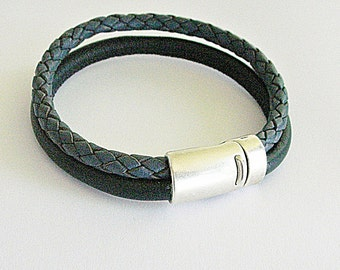 Leather mix - nappa leather bracelet for men