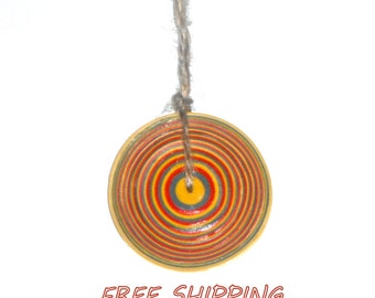 paper quilling necklace, geometric pendant, quilling jewelry
