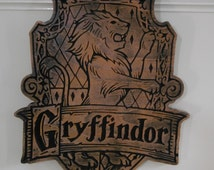 Carved Harry Potter house Gryffindor