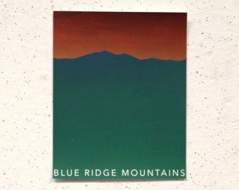 Blue Ridge Mountains || 4-Color Screen Print, second print