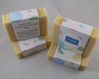 Chamomile + Calendula Goat Milk Cold Process All-Natural Handmade Soap