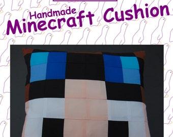 The Diamond Minecart - Dan TDM - from Minecraft. Handmade Minecraft Cushion