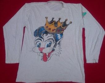 vintage stray cats blast off tour 1989 t shirt