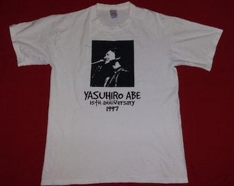 vintage yasuhiro abe japan actor 90's tshirt