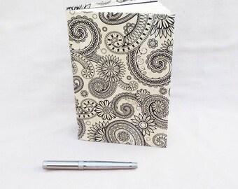 Recycled Book Journal   Black White Journal   Repurposed Book Notebook   Bohemian Journal   Blank Journal   Diary    Gift for Teacher