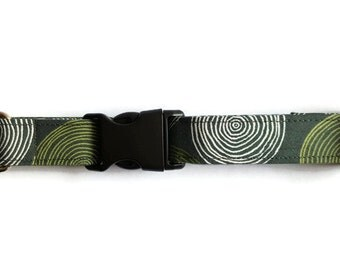 SALE -30% Dog collar Green Circles
