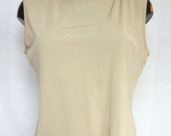 Top Beige 100% silk size XL