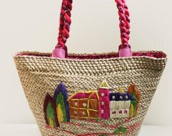 Beach Bag/Market Bag/Shoulder Bag/Tote Bag/Picnic Bag/Basket Bag/Handbag/Summer Bag