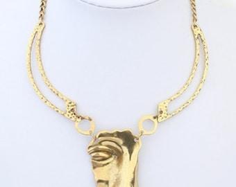 Vintage Mask Necklace
