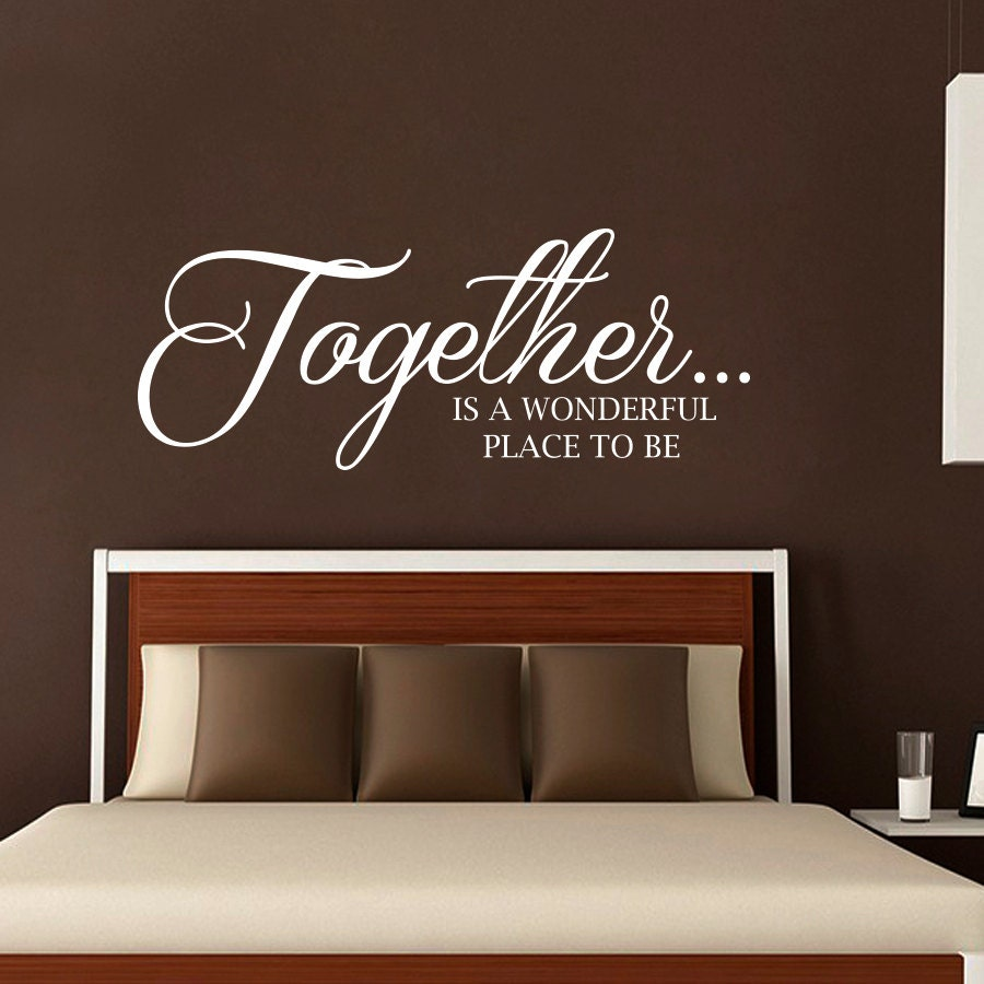charming bedroom wall art stickers | NEW Wall Decals Quote Together Is a Wonderful Place to Be