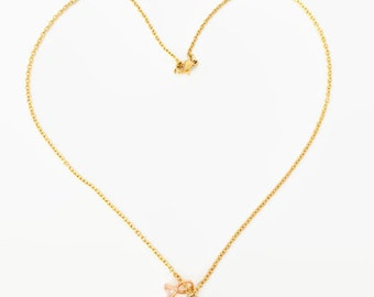 Red Gold Lips Charm Chain, Handcrafted Necklace, Girls Women Valentine's Day Gift, Gold Color Necklace, Red Alloy Enamel Lips Charm,