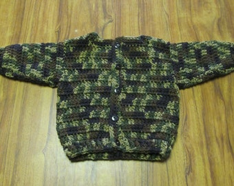 Camouflage Baby Sweater size 6-12 months