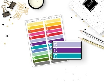 Music Little Things Headers - Rainbow - 26 Stickers
