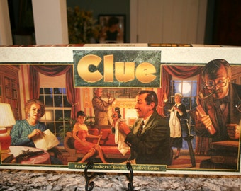 1986 Clue Board Game//Parker Brothers Classic Detective Game//Age 8 to Adult//Vintage Board Game