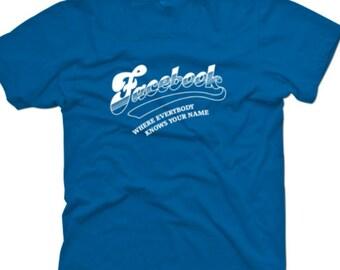 Facebook 'Cheers' parody T-shirt