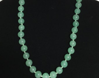 Green Aventurine Bead Necklace