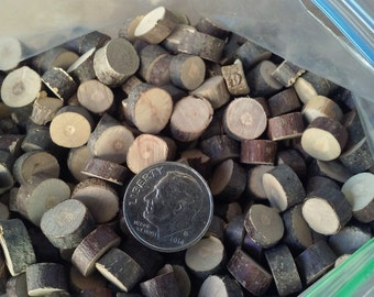 Miniature Wood Sliced Stepping Stones - Fairy Garden, Doll House, Crafting Supplies - River or Pond Border