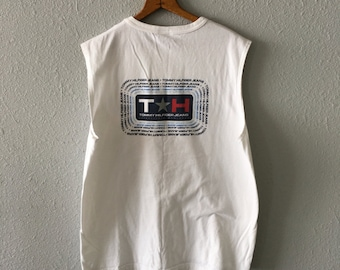 1990's Tommy Hilfiger Vintage Tommy Jeans 90's Hip Hop Muscle T Shirt