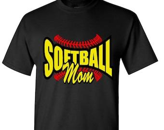 Softball Mom with Laces / Softball Mom Bling