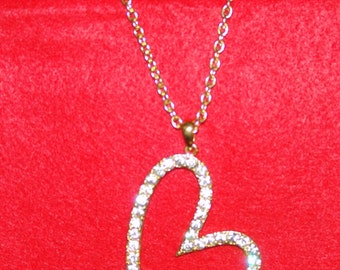 Long Chain Fashion Heart Necklace